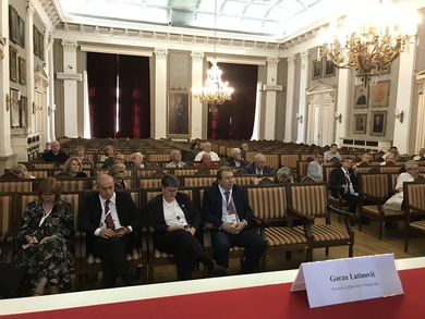 Vice-Rector attending a conference in Belgrade
